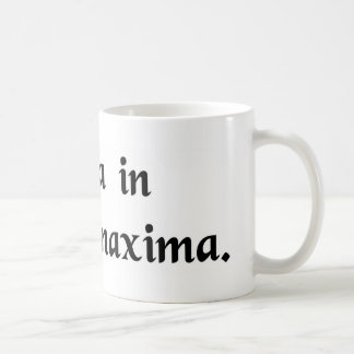 Nature is the greatest in the smallest things. coffee mug