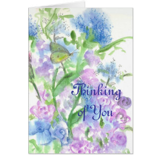 Nature Journal Yellow Moth Flower Thinking of You Card