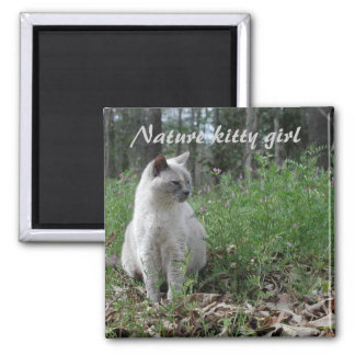Nature kitty girl refrigerator magnet