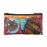 Nature Lady and the Seasons of the Year. Cosmetic Bags