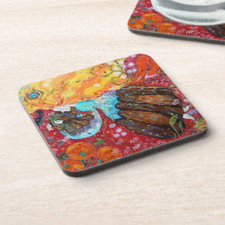 Nature Lady and the Seasons of the Year. Drink Coaster