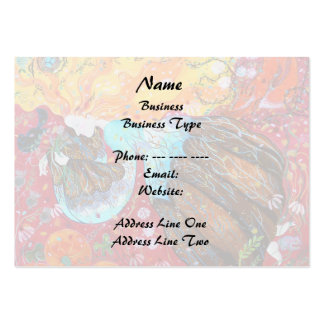 Nature Lady and the Seasons of the Year. Large Business Card