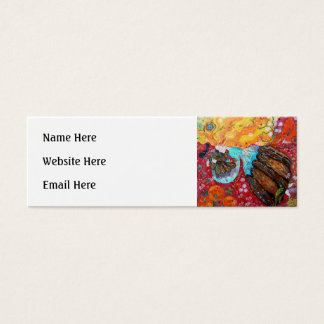 Nature Lady and the Seasons of the Year. Mini Business Card
