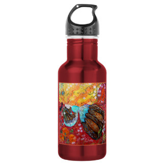 Nature Lady and the Seasons of the Year Water Bottle