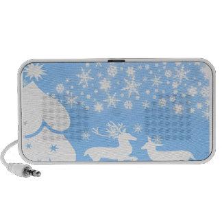 Nature  Landscapes  Seasons Winter Snowflake Deer PC Speakers
