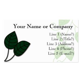 Nature Leaf Business Card