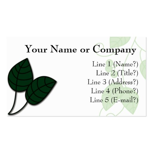 Nature Leaf Double-Sided Standard Business Cards (Pack Of 100)
