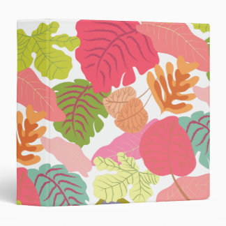 Nature Leaves Bright Tropical Pattern Binder
