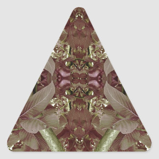 Nature Leaves Pattern Frame Triangle Sticker