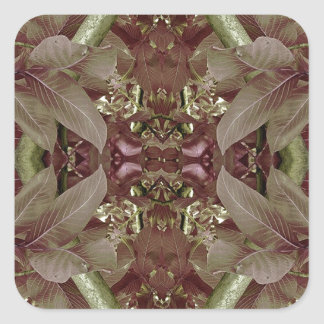 Nature Leaves Pattern Frame Stickers