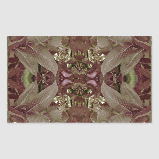 Nature Leaves Pattern Frame Sticker