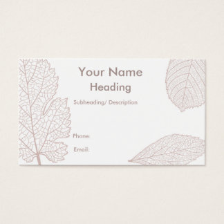 Nature/leaves themed business business card