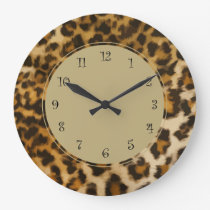 Nature Leopard Wall Decor Clock