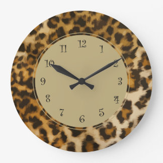 Nature Leopard Wall Decor Clock
