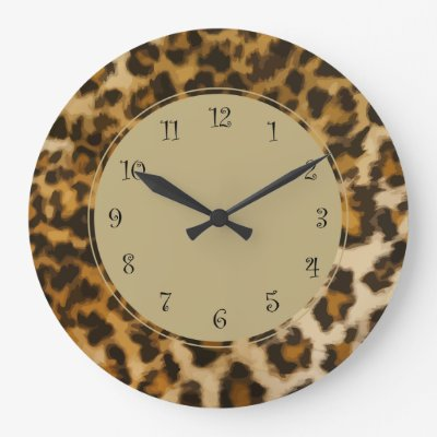 Leopard Wall Decor leopard animal print pinky name wall clock | zazzle