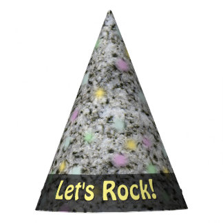 Nature Lets Rock Geology Granite Pastels any Text Party Hat