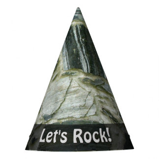 Nature Lets Rock Geology Stone Wall any Text Party Hat
