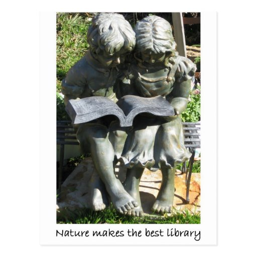 NATURE LIBRARY postcard