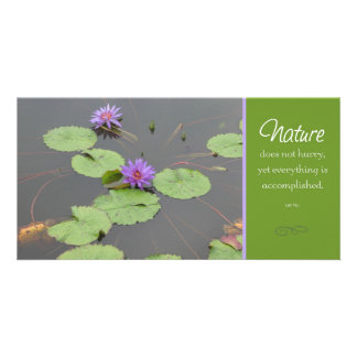 Nature Lilly Pod Photocard Personalized Photo Card