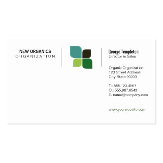 Nature Logo (Grid Variation) Business Card