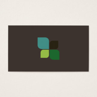 Nature Logo (iron brown) Business Card