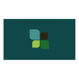 Nature Logo (midnight green) Business Card