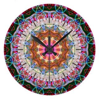 Nature Love kaleidoscope Large Clock