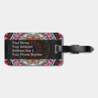 Nature Love kaleidoscope Travel Bag Tag
