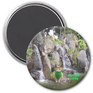 Nature Lover 3 Inch Round Magnet