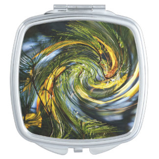 Nature Lover Dancing Pine Needles Mirror For Makeup