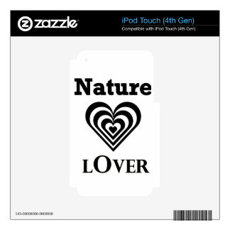 Nature Lover design Decals For iPod Touch 4G