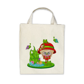 Nature Lover Frog Faery Canvas Bag