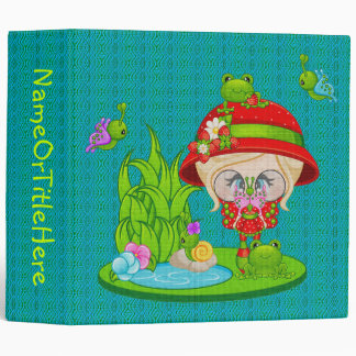 Nature Lover Frog Faery Binder