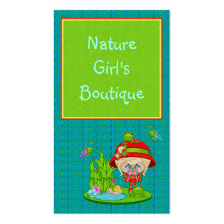 Nature Lover Frog Faery Business Cards