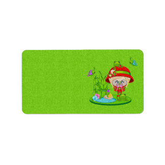 Nature Lover Frog Faery Labels