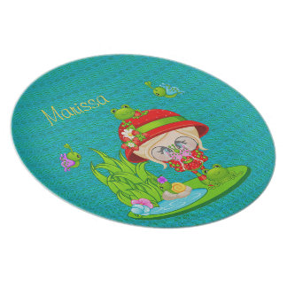 Nature Lover Frog Faery Dinner Plates