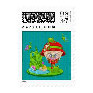 Nature Lover Frog Faery Postage