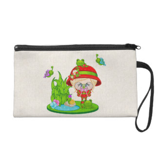 Nature Lover Frog Faery Wristlet Clutches