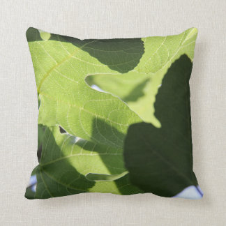 Nature Lover, Green Leaves Throw Pillow