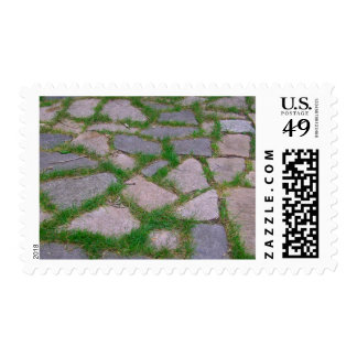 Nature lover rocks stone grass cool mosaic pattern postage