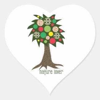 Nature Lover Heart Sticker
