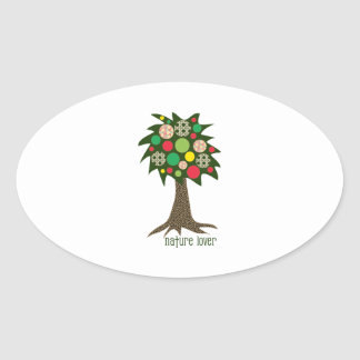 Nature Lover Oval Sticker
