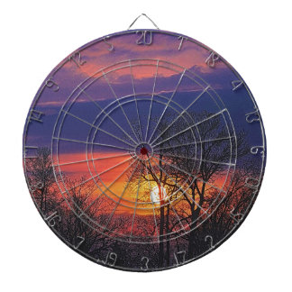 Nature-lover's Autumn Seasonal Art Designer Gift Dart Board