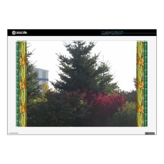 Nature lovers gifts Tree Flowers Template add TEXT Laptop Skin