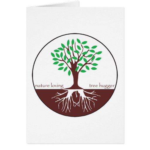 Nature Loving Tree Hugger Card