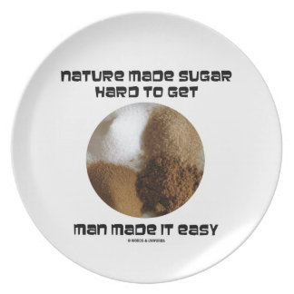 Nature Made Sugar Hard To Get Man Made It Easy Dinner Plate