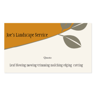 Nature - Marketing Profile Business Cards