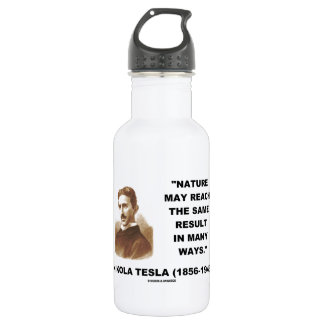 Nature May Reach Same Result In Many Ways (Tesla) 18oz Water Bottle