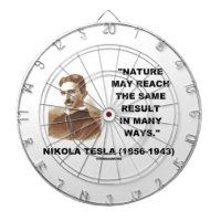 Nature May Reach Same Result In Many Ways (Tesla) Dart Boards