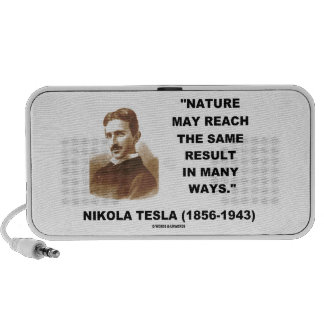 Nature May Reach Same Result In Many Ways (Tesla) Mp3 Speakers